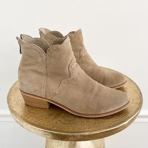 Chinese Laundry Suede Stud Ankle Booties